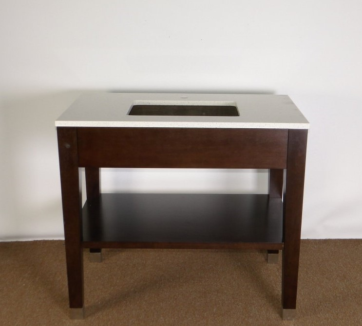 NEXT GEN VANITY BASE WITH QUARTZ TOP SHOWN