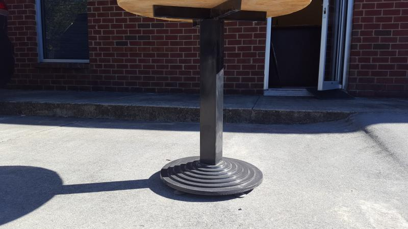 black cast iron table stands